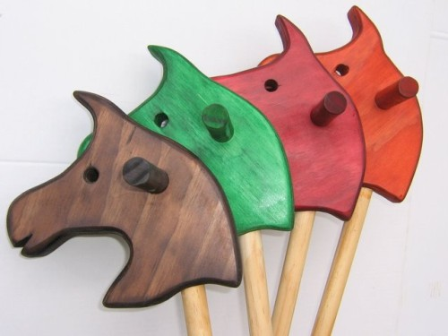 Brown, Green, Red and Orange Hobby Horses