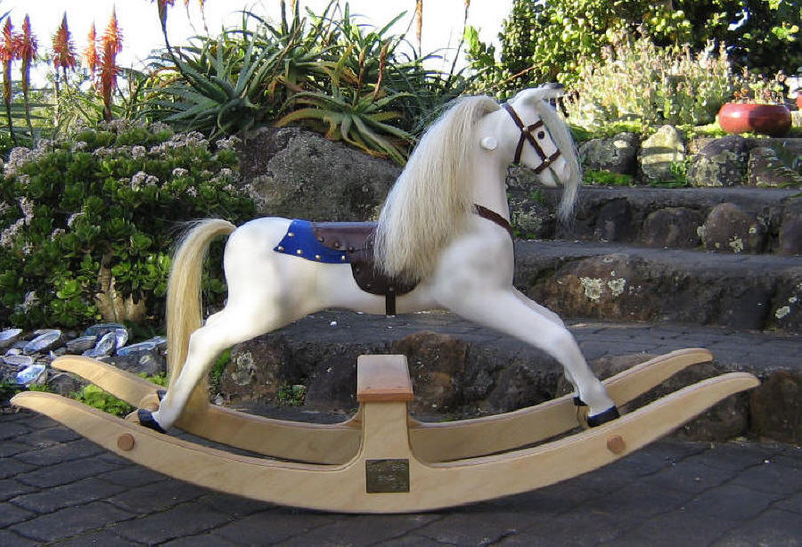 Childs rocking horse small dapple