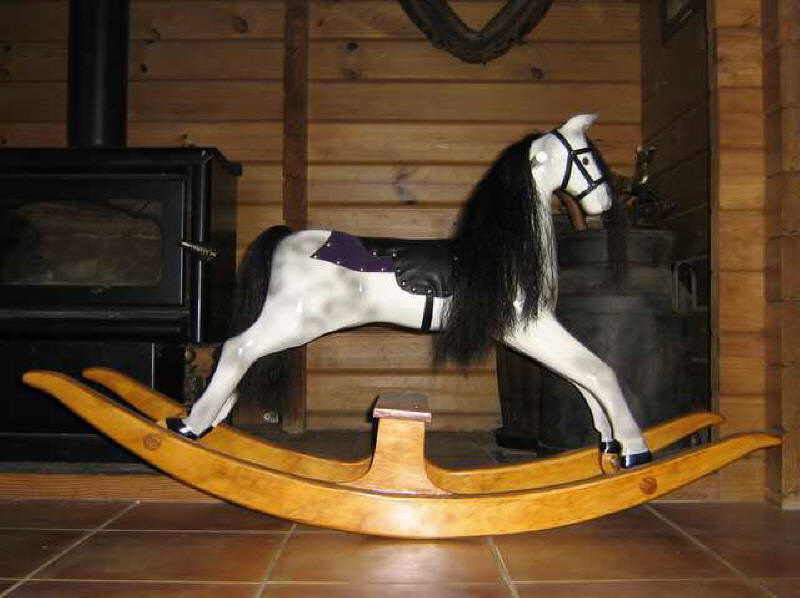 Childs rocking horse, small dapple on bow rocker