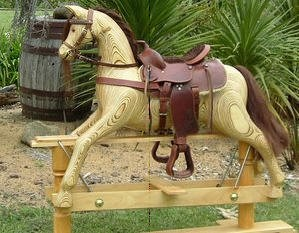 Large rocking horse - dusty