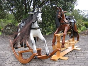Two large rocking horses